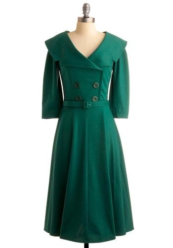 Green 50's Dress