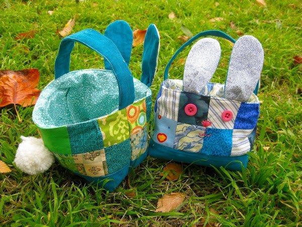 Fabric Scrap Bunny Basket
