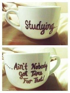 Studying Mug