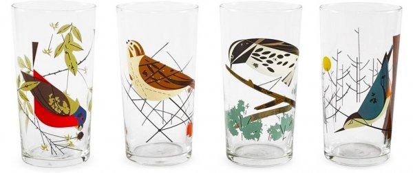 Birds Glasses, Box of 4