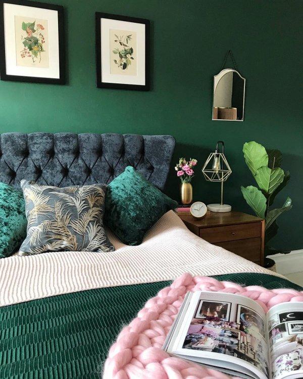 Green, Room, Furniture, Interior design, Bedroom,