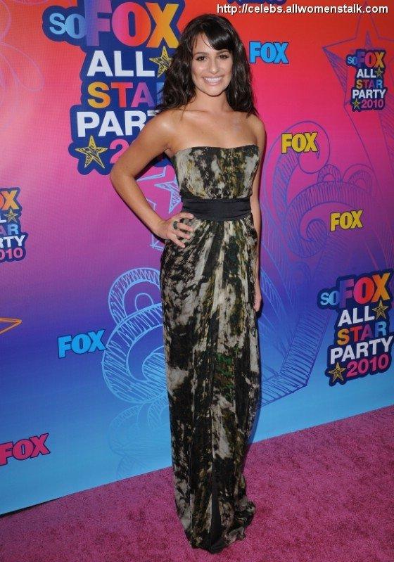 Lea Michele at the Fox TCA All-Star Party