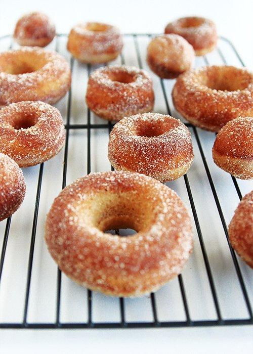 doughnut, cider doughnut, glaze, fried food, baked goods,