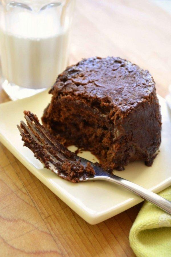 Microwave Chocolate Peanut Butter Cake