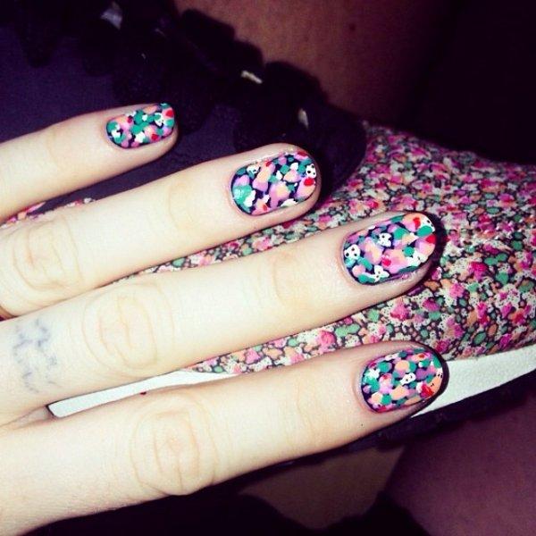 nail, tattoo, art, manicure, pattern,