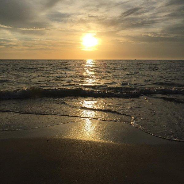 sea, horizon, sky, shore, ocean,