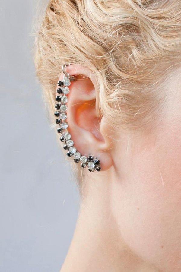 Rhinestone Ear Cuff