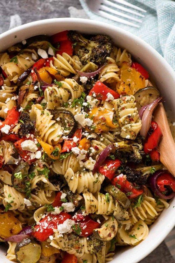 Food, Cuisine, Dish, Rotini, Pasta salad,