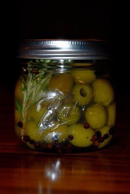 Drunken Martini Olives