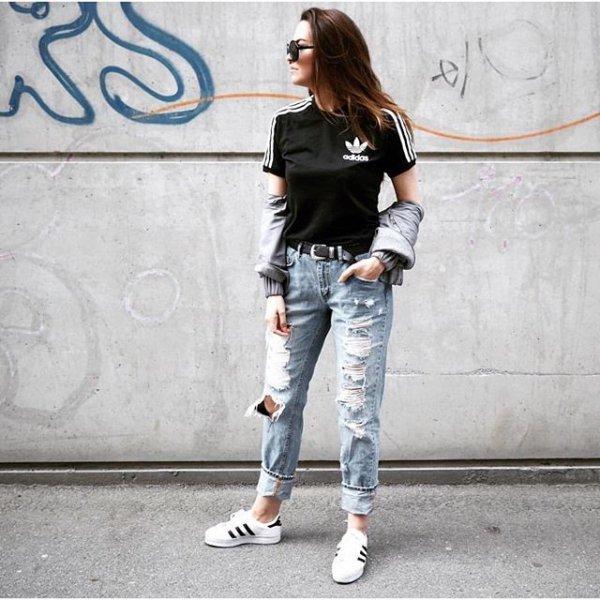 white, clothing, jeans, denim, footwear,