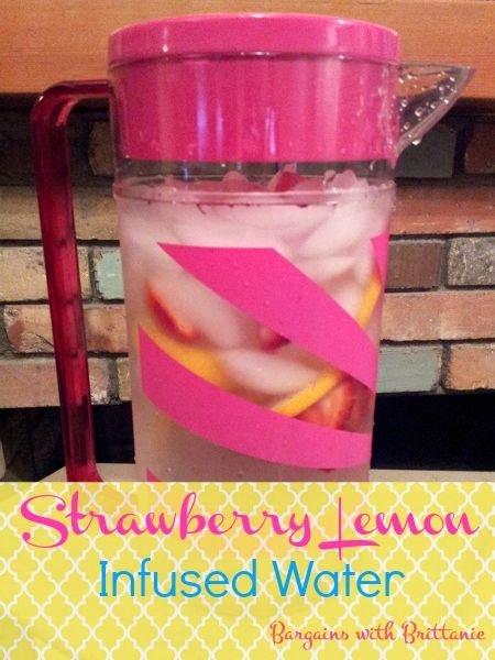 Strawberry Lemon Infused Water Recipe