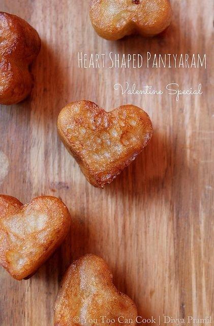 Heart-Shaped Paniyaram