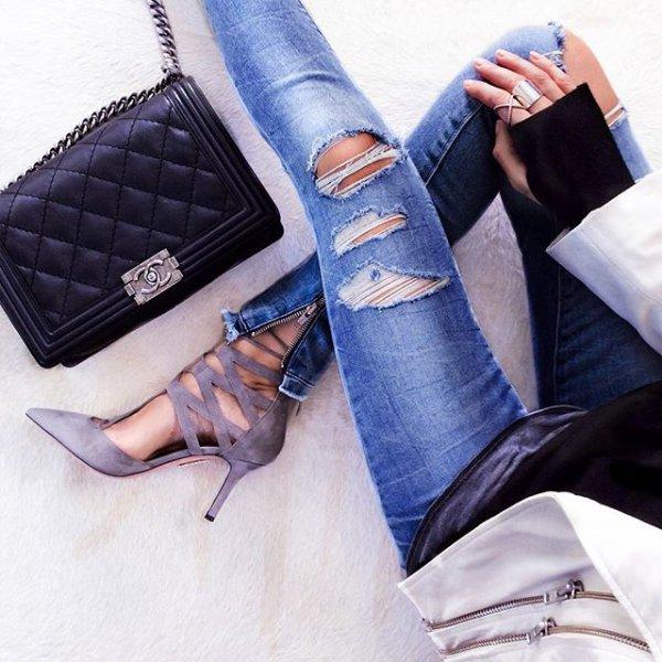 handbag, blue, footwear, bag, fashion accessory,