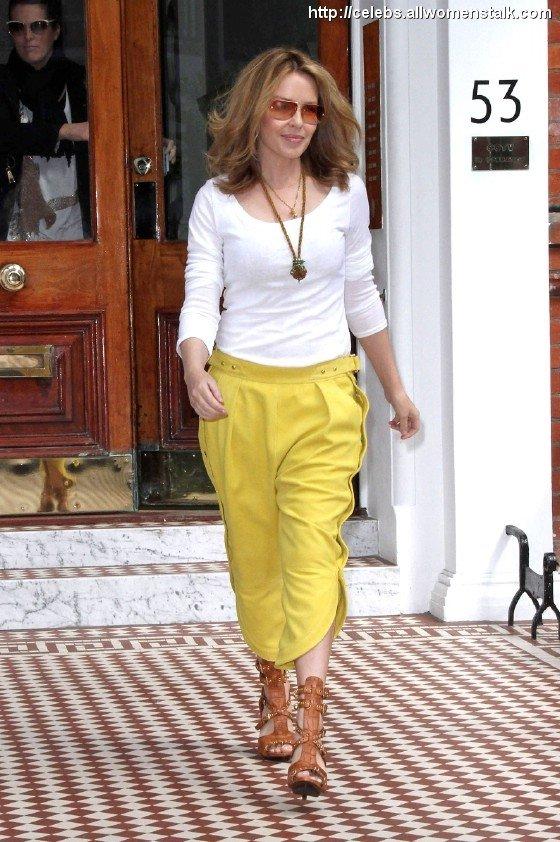 Kylie Minogue in Harem Pants