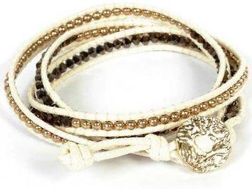 Beaded Leather Wrap Bracelets