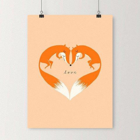 I Love You Foxy,organ,logo,brand,illustration,