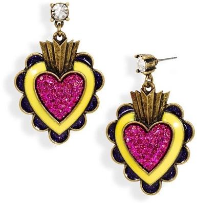 Viva La Betsey Heart Drop Earrings