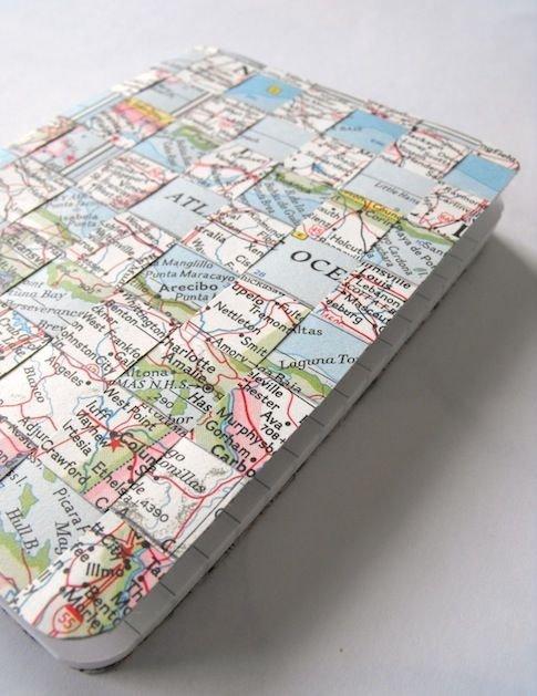 Woven Map Travel Journal