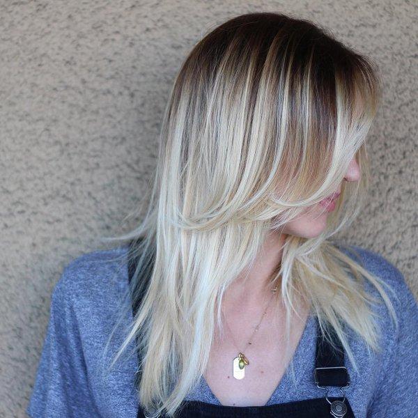 Her Beautiful Blonde Balayage