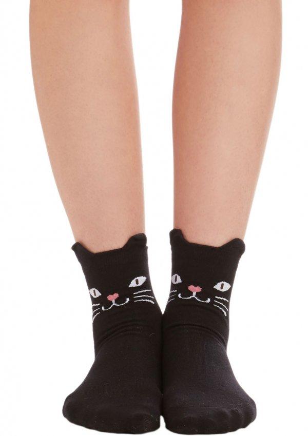 ModCloth Cats across Your Path Socks