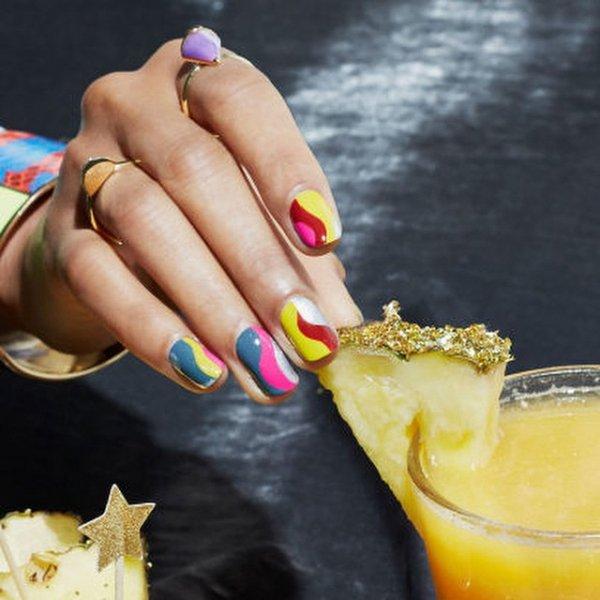 yellow, nail, hand, cosmetics,