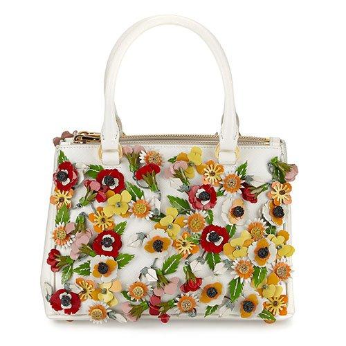 handbag, white, bag, shoulder bag, flower,