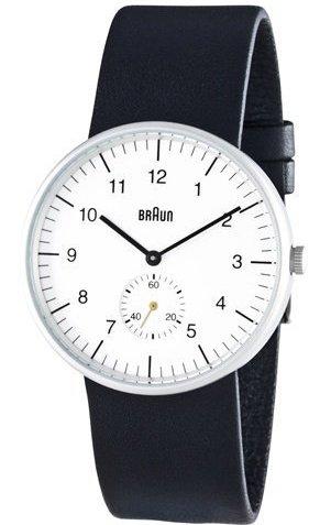 Men's Analog Wrist Watch, White Face 38 Mm