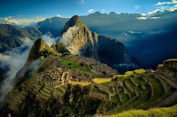 Hike up to Machu Picchu in Peru