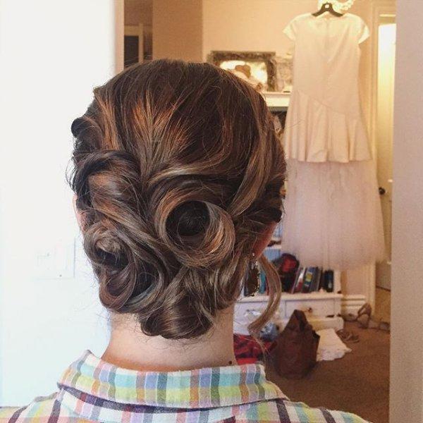 hair, hairstyle, long hair, head, bun,