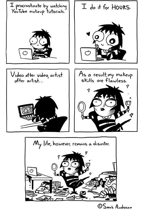 cartoon, book, comics, procrastinate, watch,
