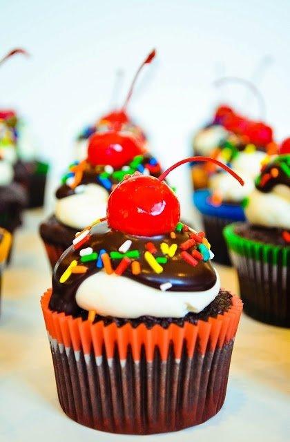 Cherry on Top Cupcakes