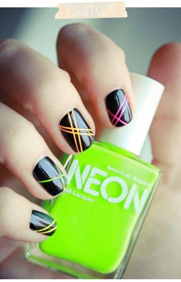 nail, finger, color, green, nail care,