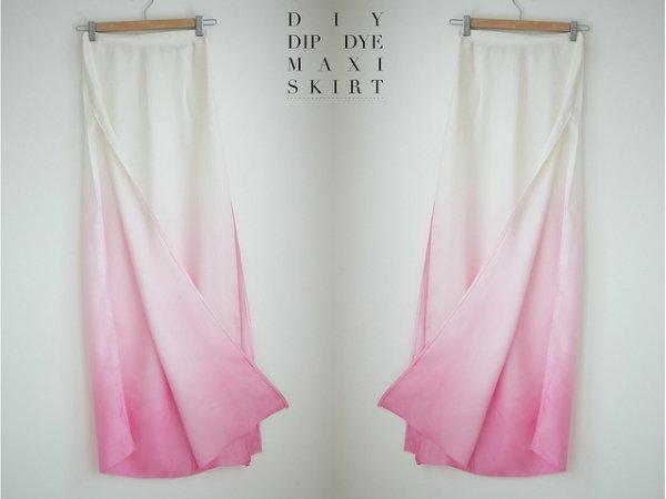 Dip Dye Maxi Skirt