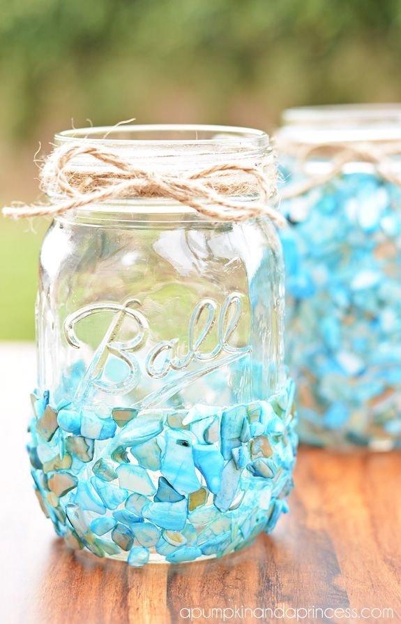 Beach Inspired Mason Jar Craft