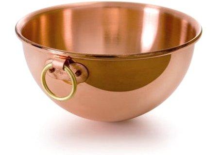 Mauviel M'Passion Copper 10 Inch 4.9 Quart Egg White Bowl