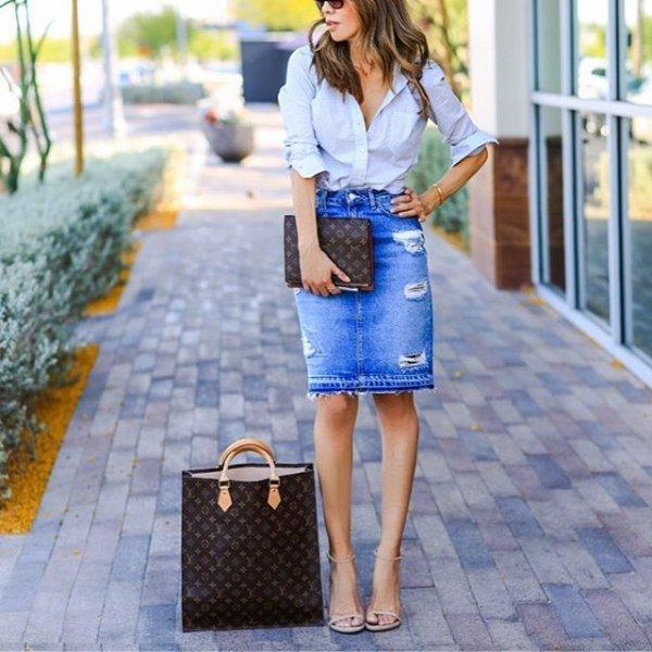 clothing, blue, denim, dress, pattern,