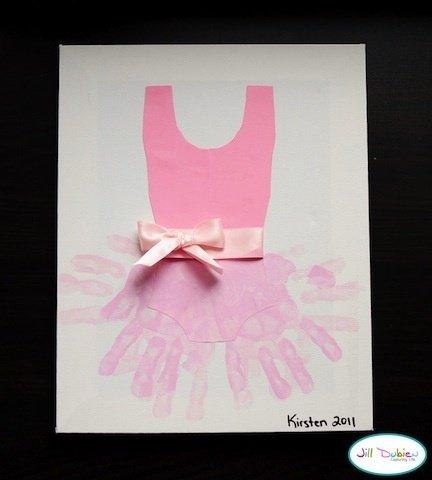 Ballerina Hand Print
