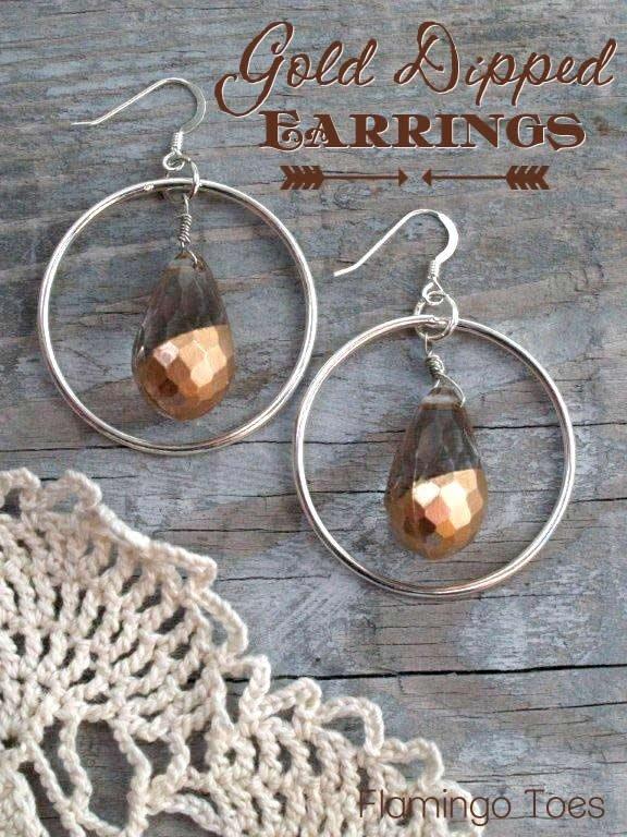 Gold-dipped Earrings