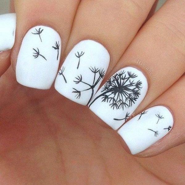 Wild Dandelion 45 Flirty Spring Nail Art Ideas For Nail Polish