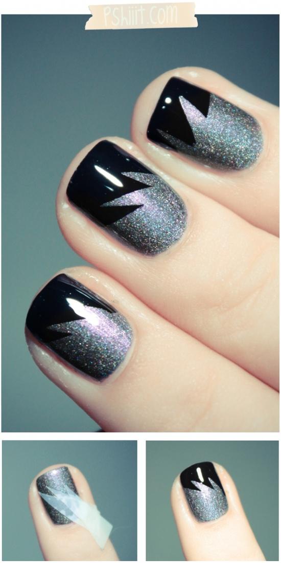 Geometric Shapes - 7 Ways to Make Nail Designs Using Tape ... …