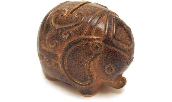 Brown Elephant Coin, Money Box