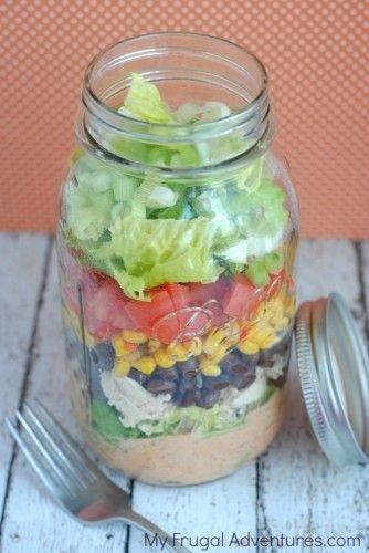 Mason Jar Southwest Salad