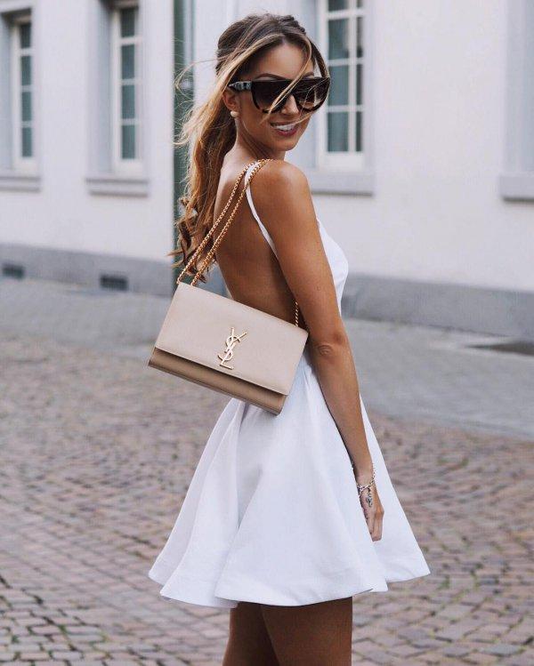 white, clothing, dress, spring, fashion,