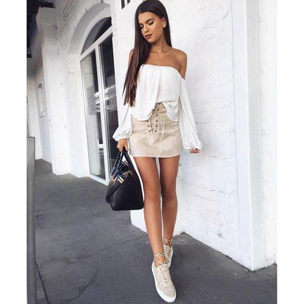 white, clothing, sleeve, footwear, dress,