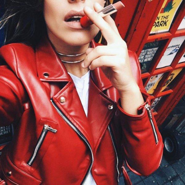 red, clothing, leather, jacket, leather jacket,