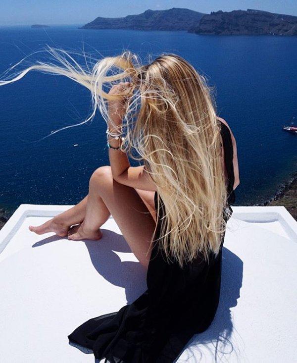 blue, sea, beauty, girl, ocean,