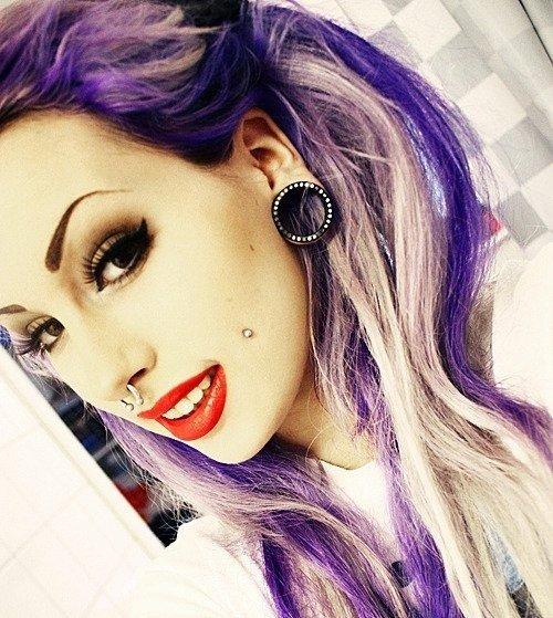 hair,color,face,purple,black hair,