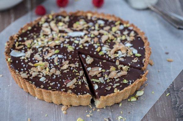 baked goods, food, dessert, dish, treacle tart,