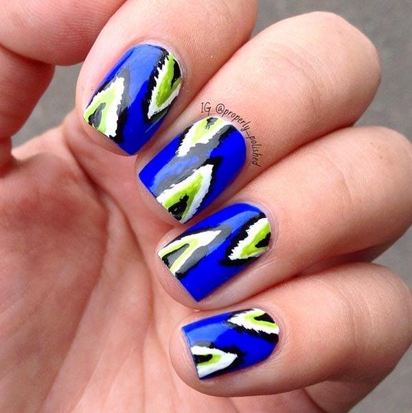 nail, finger, blue, nail care, yellow,