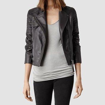 Dorsey Leather Biker Jacket